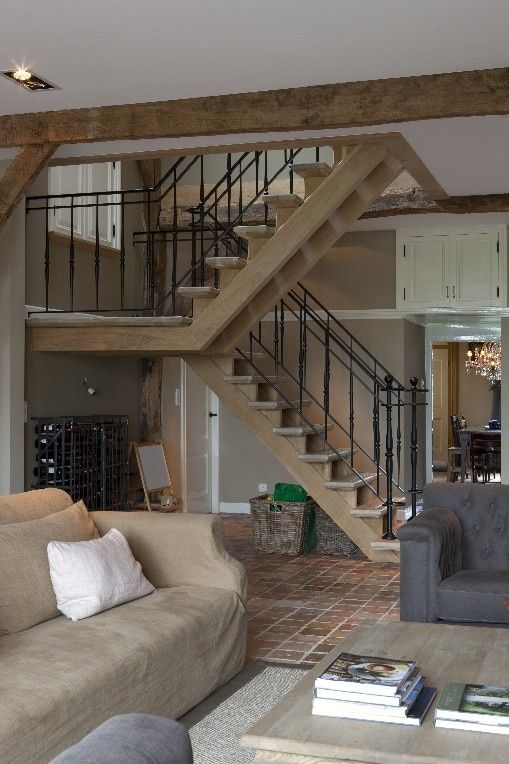 open trap in woonkamer ~ home design ideeën en meubilair inspiraties, Deco ideeën