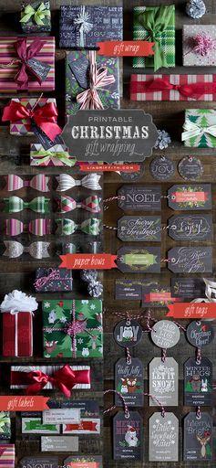 Printable Christmas Gift Wrap… AWESOMENESS!!!! #christmas #printables #gifts