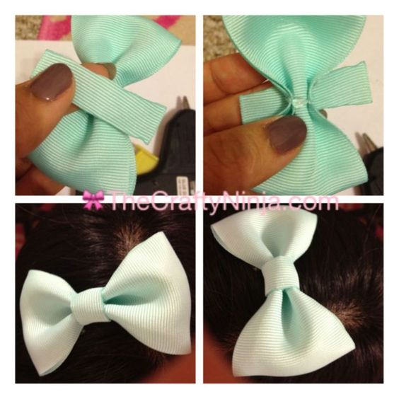How to make a bow with glue gun no sew