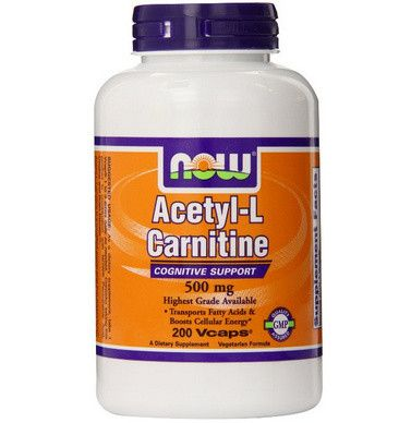 NOW Foods Acetyl L-Carnitine 乙酰左旋肉碱 500mg 200粒$23.64