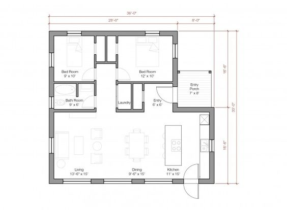 1 100 Sq Ft 1 Floor 2 Bed Room Pre Fab House Blue