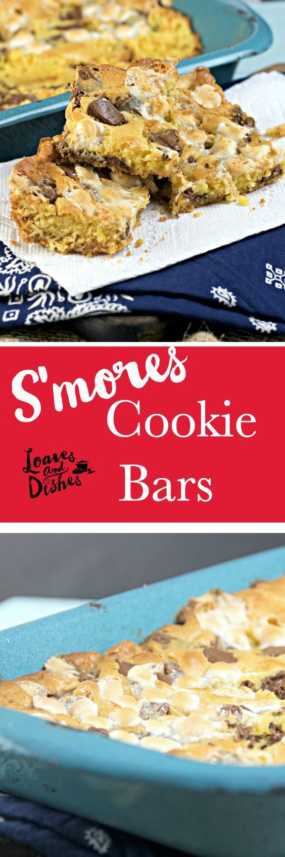 Simple One Pan Cookies made in casserole dish. Delicious reminder of S'mores. Cookies ready in 20 minutes. Easy. Simple Recipe. Perfect for kids and teens.