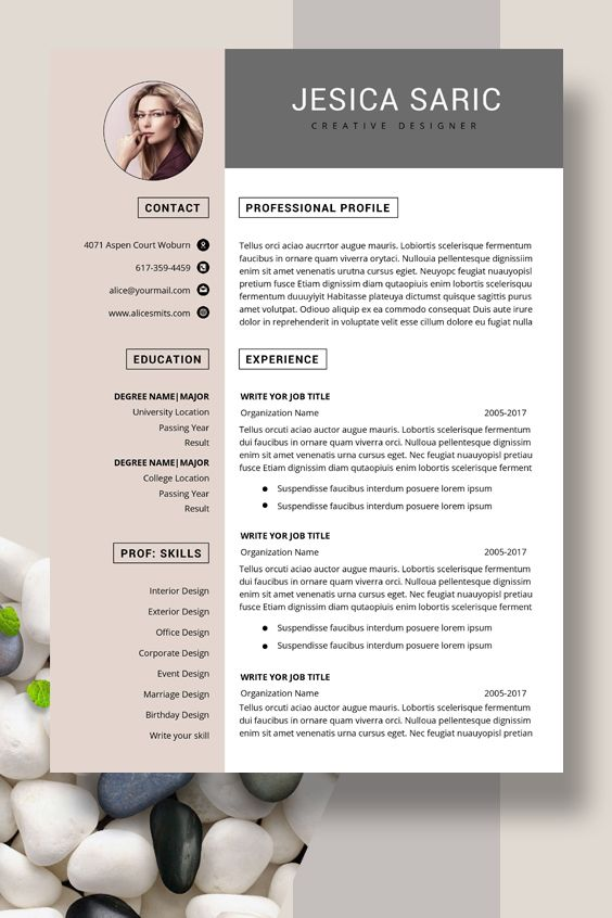 Professional Resume Template Instant Download 3 Page Resume Resume Template Word Cv Cv Template Curriculum Vitae Cover Letter Modern Resume Words Teacher Resume Template Cv Template
