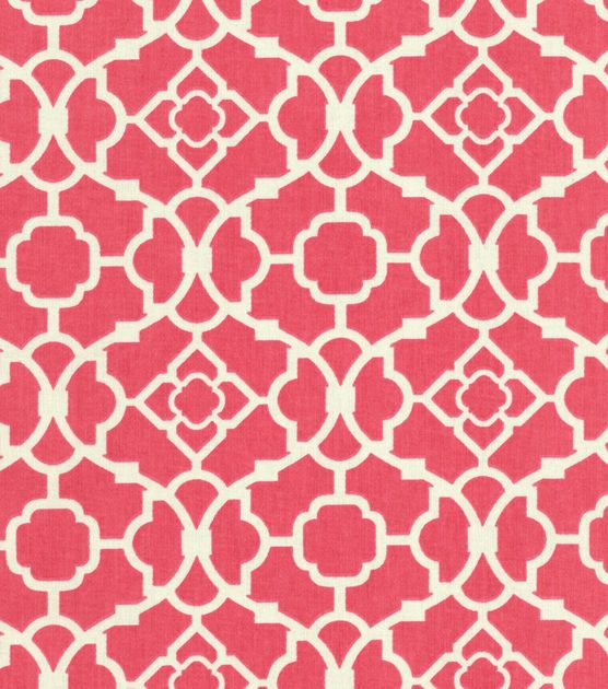 @Leni Sim Home Decor Fabric | Lovely Lattice Blossom | Pink fabric from Joann.com