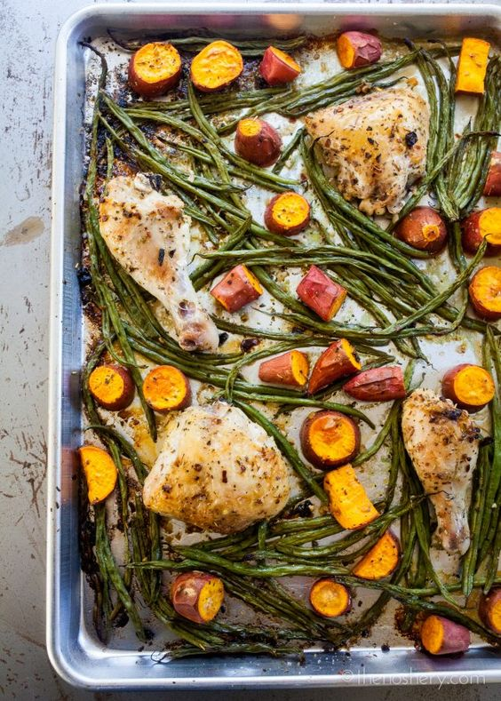 The Noshery | The Weeknight Dinner Cookbook: Sheet Pan Chicken with Green Beans…