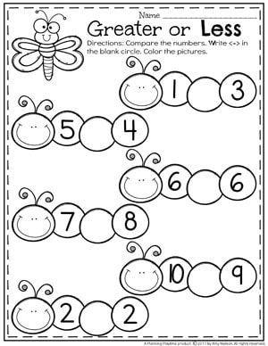 Comparing Numbers Worksheets Planning Playtime Comparing Numbers Worksheet Kids Math Worksheets Number Worksheets