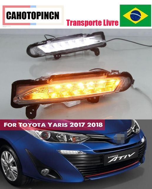 For Toyota Yaris 2017 2018 Waterproof 12v Led Drl Daytime Driving