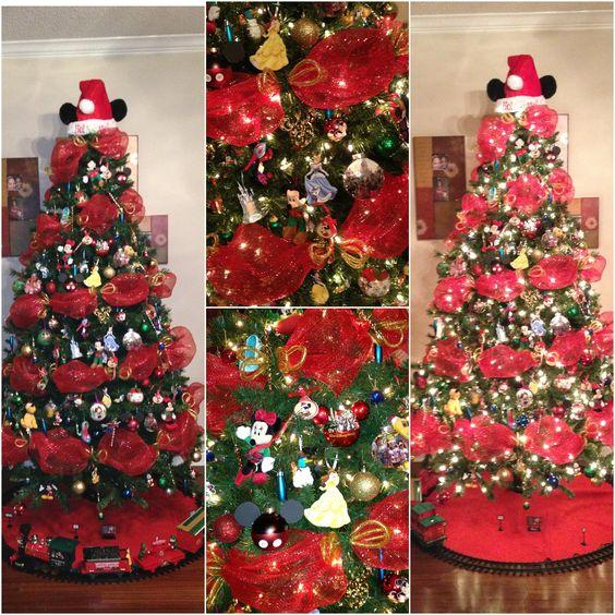 Disney, Christmas Tree, Christmas, Mickey Mouse, Minnie