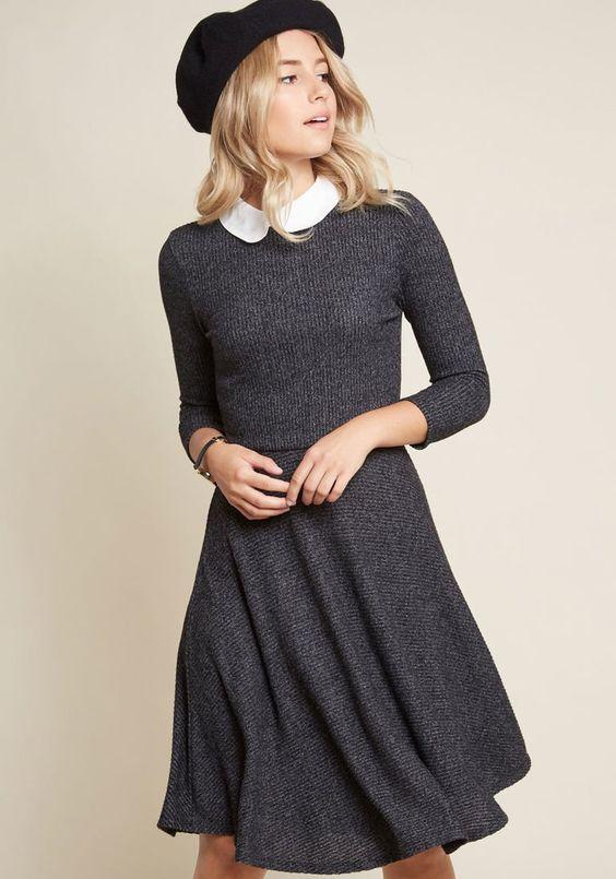 Perfectly Proper Knit Dress