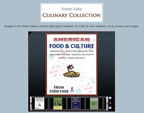 Photo Gallery: Food Fare Culinary Collection. http://shenanchie.tripod.com/culinary/gallery.htm