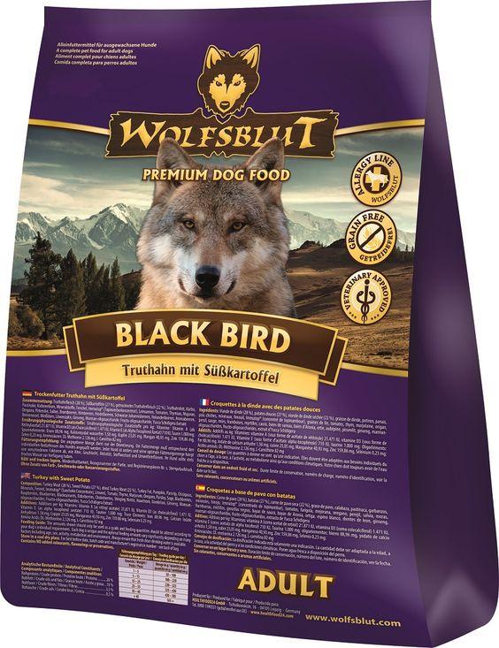 Wolfsblut Black Bird - Getreidefreies Hundefutter mit köstlichem Truthahn. Gleich probieren! #healthfood24 #wolfsblut