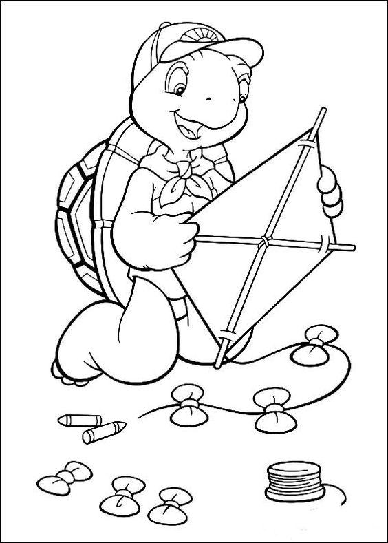 Franklin Ausmalbilder. Malvorlagen Zeichnung druckbare nº 2 ...