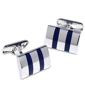 Donald J. Trump Signature Collection Cufflinks, Striped Cufflinks Boxed Set - Mens Cufflinks & Tie Clips - Men - Macys