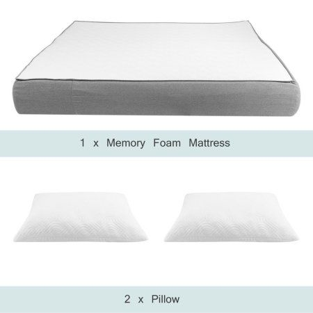 10 Inch Full Size Memory Foam Mattress Pad Ergonomic Design Comfortable High Density Home House Sleeping Mattress White Mattress Foam Mattress Queen Memory Foam Mattress
