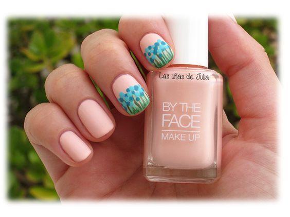 Las uñas de Julia: Nails Art Floreado / By the Face