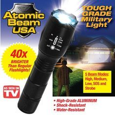 Atomic Beam Ultra Bright Flashlight