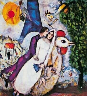 marc chagall - brautpaar