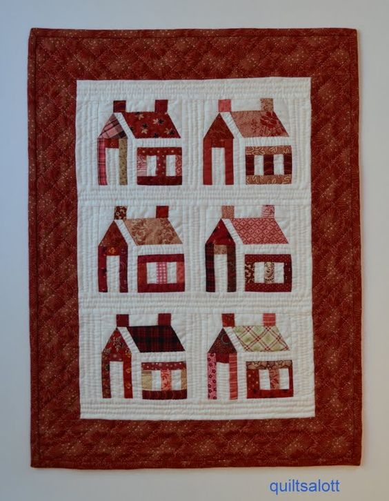 Someday soon, I WILL make a house quilt.