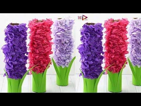 Diy Paper Hyacinth Flower Craft For Kids Making Paper Flowers