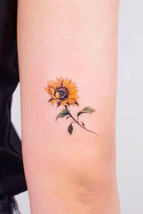 Hair Small Minimalist Sunflower Tattoo Idea Smalltattoo