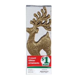 Holiday Glitter Ornaments | $1  Family Dollar