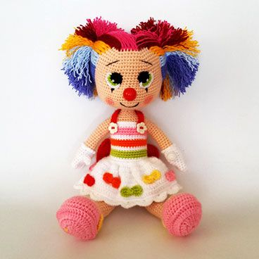Miss Clown Amigurumi Circus design contest entry by ...