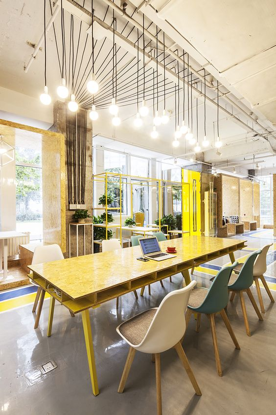 Mat office coworking light pinterest beijing style Coworking space design ideas