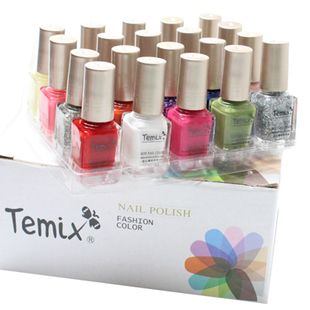 2.25 euro incl shipping Temix 20 limited edition 20 bottle mini nail polish oil candy color nude color set