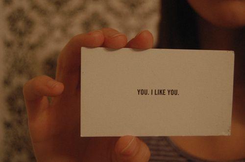 You. I like you.