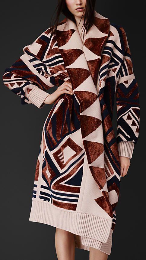 Geometric Knit Blanket Coat | Burberry