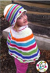 Ravelry: Snappy Poncho and Cloche pattern by Heidi Yates