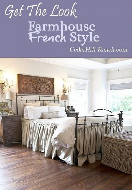 Get the farmhouse french look rustic french country for Rustic french bedroom