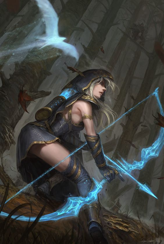 Ashe Hawkshot, Felipe Escobar on ArtStation at https://www.artstation.com/artwork/ashe-hawkshot