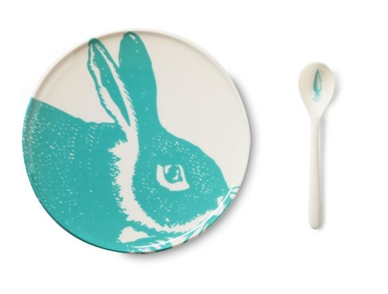 Thomas Paul melamine bunny set