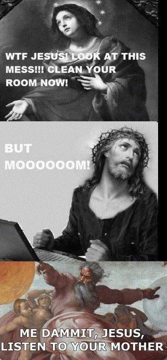 Don't judge, God invented a sense of humor.