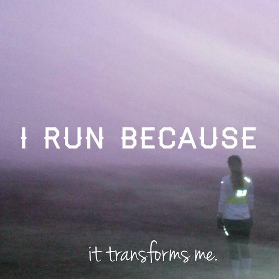 I run because it transforms me. Why do you run? #irunbecause #runchat #RunningWarehouse