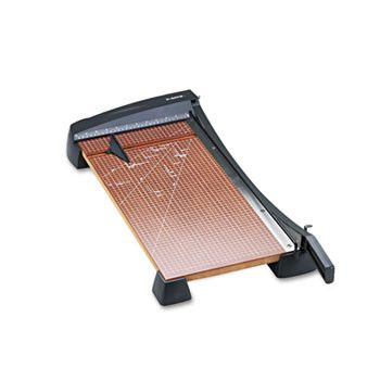 """Heavy-Duty Wood Base Guillotine Trimmer, 15 Sheets, 12"""" X 24"""""""