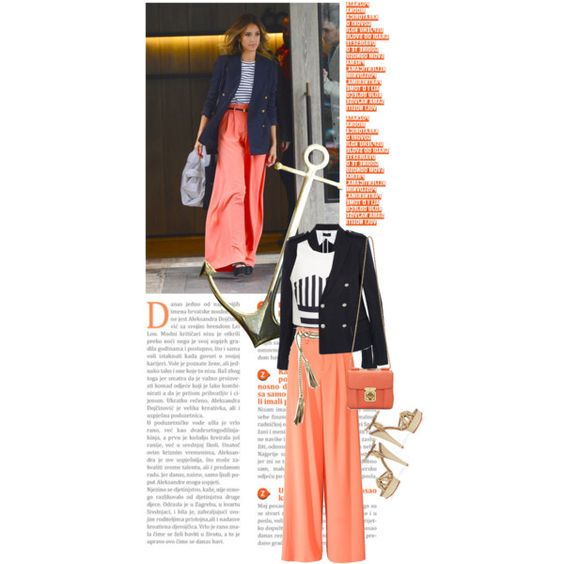 sailor jessica alba by esterp on Polyvore featuring TIBI, Joseph, Alice + Olivia, Chloé, ADA Collection and Charlotte Olympia