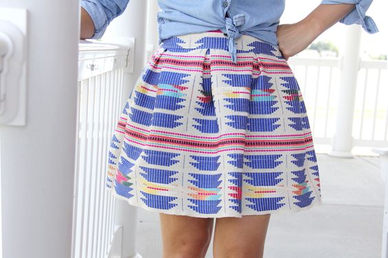 Pleated Mini Skirt DIY - The Sewing Rabbit: