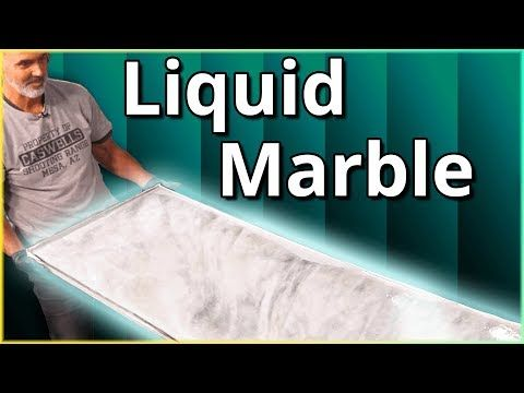 Create Liquid Marble While Tilting Your Resin Project Stone Coat