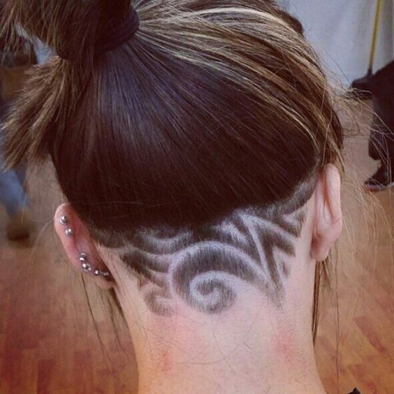 Hair Style Tribal Design