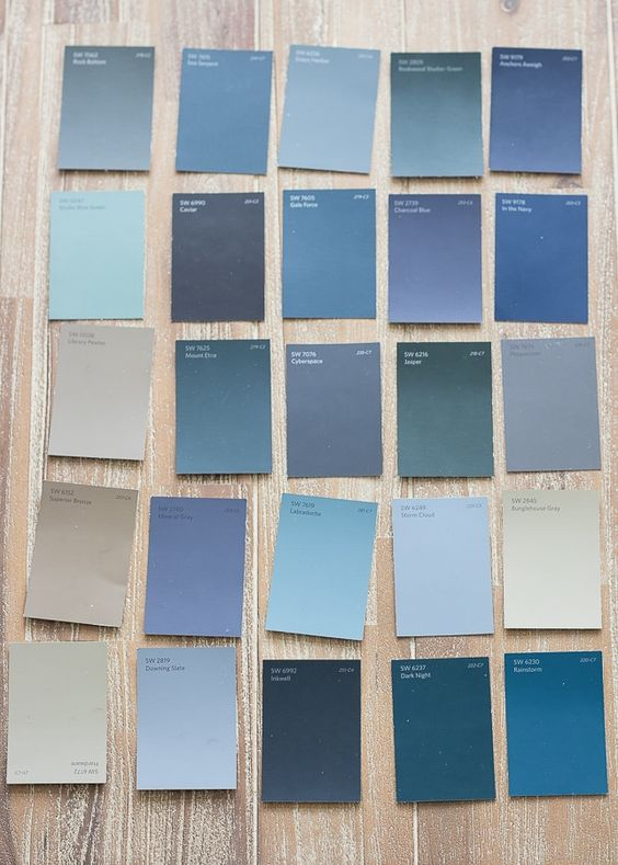 blue paint chip samples