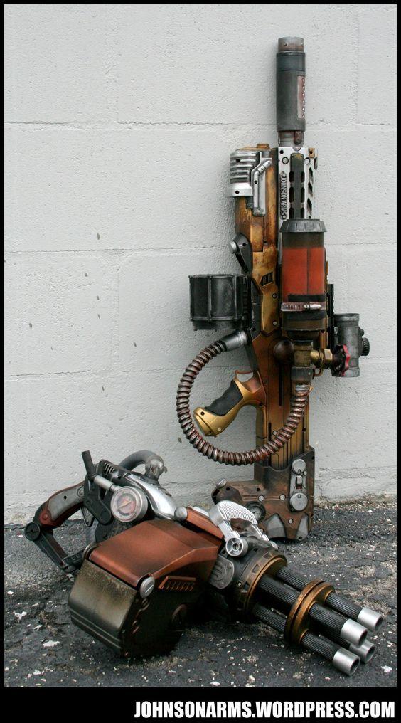 Steam Powered Gatling Gun By Johnsonarms Deviantart Com On