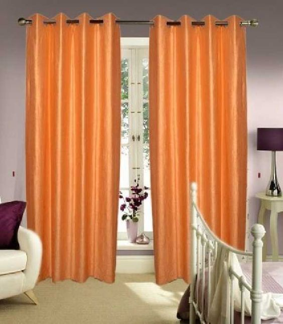 Shop HOME ELITE BEAUTIFUL POLYESTER DOOR CURTAINS (SET OF 2) RG-CTT-305 Online for best deal
