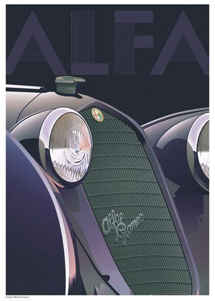 Alfa Romeo poster. @designerwallace