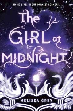 The girl at midnight by Melissa Grey ---- A girl who's adopted and raised by a race of creatures with feathers for hair and magic in their veins becomes involved in an ancient war and a centuries-old love, discovering startling truths about the world she lives in. (July)