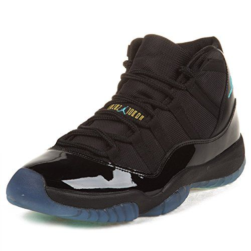 Nike Mens Air Jordan 11 Retro Black/Gamma Blue Leather Basketball Shoes Size 11 - tips dresses