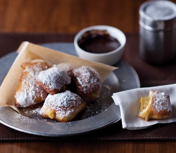 A fresh take on coffee and doughnuts. Coffee-crème beignets from American Icon Grill. #thischangeseverything #quantumoftheseas