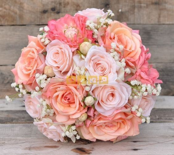 اجمل صور بوكيه ورد لاعياد الميلاد وللأحبه موقع مصري Flower Bouquet Wedding Coral Wedding Flowers Pink Wedding Flowers
