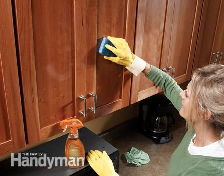 House cleaners sprays and cabinets on pinterest for Garage floor cleaning tips